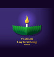 loy krathong festival card in art vector image
