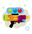 paintball gun flat style colorful cartoon vector image