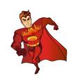 super hero fireman cartoon retro vector image