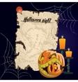 vintage parchment Halloween night vector image