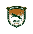 Hunting safari club sign vector image