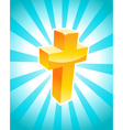 Golden Cross vector image vector image