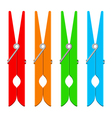 colorful clothespins vector image vector image