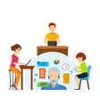 work of devices technical support for help vector image