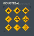 industrial icons collection vector image