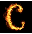 fire alphabet letter C vector image