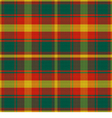 seamless pattern Maple Leaf Canadian tartan vector image vector image