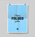 Two times folded poster vector image