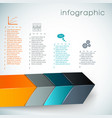3d chart infographics vector image