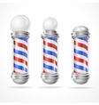 baber shop pole set vector image