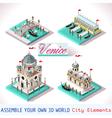 Venice 03 Tiles Isometric vector image