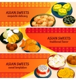Asian Sweets Horizontal Banners Set vector image