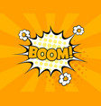boom comic text speech bubble isolated vector image
