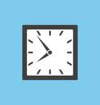 clock icon in square design vector image