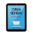 cyber monday theme realistic vector image