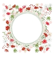Detailed contour wreath with herbs daisy and wild vector image