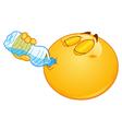 drinking water emoticon vector image