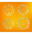 Food monograms orange vector image