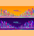 futuristic city skylines at day and night vector image