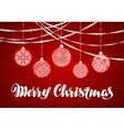 Merry Christmas Xmas decorations and balls vector image