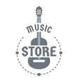 music store logo simple style vector image