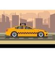 Taxi car flat vector image