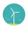 Wind Turbine In Flat Design vector image