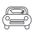 windshield car line icon sign vector image