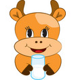 Cartoon baby cow vector image vector image