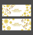 Christmas banners with golden snowflakes vector image