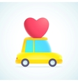 heart and car vector image vector image