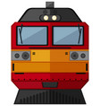 train design in red and yellow color vector image