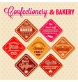 bakery design elements vector image vector image