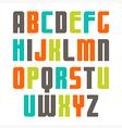 Varicolored sans serif font vector image