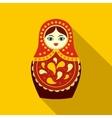 Russian matryoshka icon flat style vector image