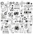 dancing robots - doodles vector image