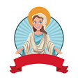 Virgin mary blessed sac image vector image