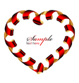 heart frame from ribbon vector image vector image
