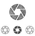 Shutter icon set - sketch line art vector image