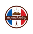 french bakery with eiffel tower logo design vector image
