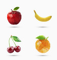 fruits set in polygonal style vector image