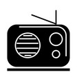 radio reciever icon black vector image