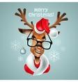 Reindeer hipster Santa Claus vector image