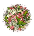 Roses and Lily Flowers Bunch vector image