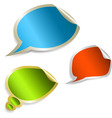 set of speech bubble stickers vector image