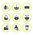 set round icons of water vector image