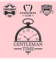 vintage style pocket watch gentleman vector image