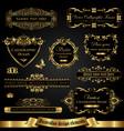 dark gold-framed decorative design elements vector image