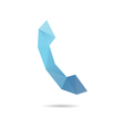 Handset icon abstract vector image