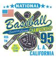 Baseball sport typography Eastern league los vector image vector image